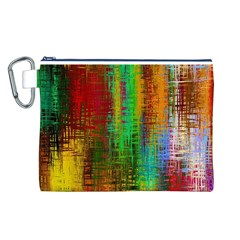 Color Abstract Background Textures Canvas Cosmetic Bag (l)