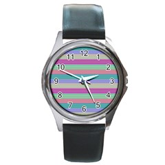 Backgrounds Pattern Lines Wall Round Metal Watch