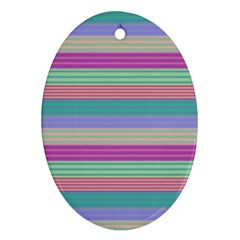 Backgrounds Pattern Lines Wall Ornament (Oval)