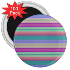 Backgrounds Pattern Lines Wall 3  Magnets (100 Pack)