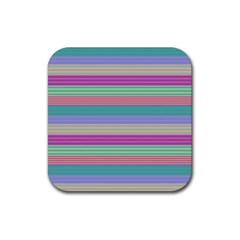 Backgrounds Pattern Lines Wall Rubber Coaster (Square)