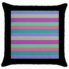Backgrounds Pattern Lines Wall Throw Pillow Case (Black)