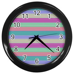 Backgrounds Pattern Lines Wall Wall Clocks (black)