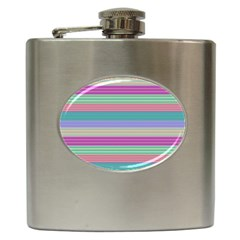 Backgrounds Pattern Lines Wall Hip Flask (6 oz)