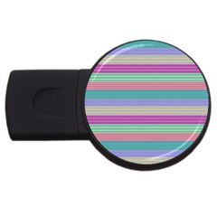 Backgrounds Pattern Lines Wall USB Flash Drive Round (1 GB)