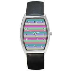 Backgrounds Pattern Lines Wall Barrel Style Metal Watch