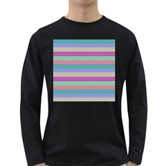 Backgrounds Pattern Lines Wall Long Sleeve Dark T-Shirts
