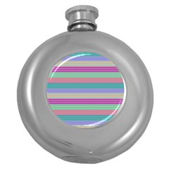 Backgrounds Pattern Lines Wall Round Hip Flask (5 Oz)
