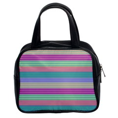 Backgrounds Pattern Lines Wall Classic Handbags (2 Sides)