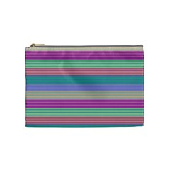Backgrounds Pattern Lines Wall Cosmetic Bag (medium)