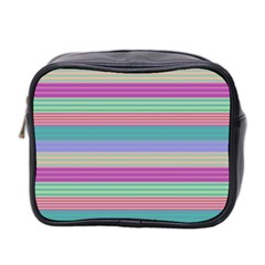 Backgrounds Pattern Lines Wall Mini Toiletries Bag 2 Side