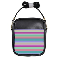 Backgrounds Pattern Lines Wall Girls Sling Bags