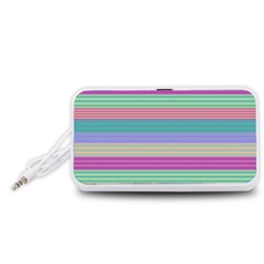 Backgrounds Pattern Lines Wall Portable Speaker (White)