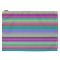 Backgrounds Pattern Lines Wall Cosmetic Bag (xxl)