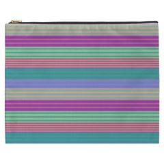 Backgrounds Pattern Lines Wall Cosmetic Bag (XXXL)