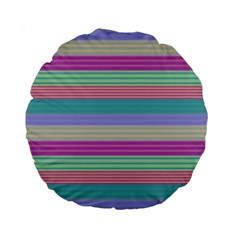 Backgrounds Pattern Lines Wall Standard 15  Premium Round Cushions