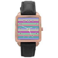 Backgrounds Pattern Lines Wall Rose Gold Leather Watch