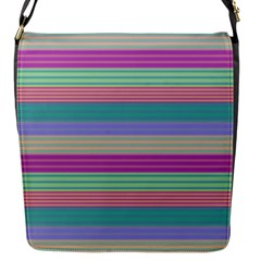 Backgrounds Pattern Lines Wall Flap Messenger Bag (S)