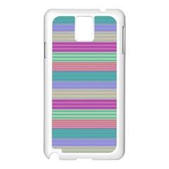 Backgrounds Pattern Lines Wall Samsung Galaxy Note 3 N9005 Case (White)