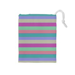 Backgrounds Pattern Lines Wall Drawstring Pouches (Medium)