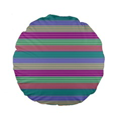 Backgrounds Pattern Lines Wall Standard 15  Premium Flano Round Cushions