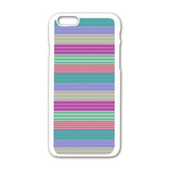 Backgrounds Pattern Lines Wall Apple Iphone 6/6s White Enamel Case