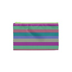 Backgrounds Pattern Lines Wall Cosmetic Bag (xs)