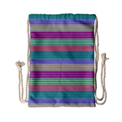 Backgrounds Pattern Lines Wall Drawstring Bag (Small)