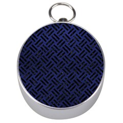 Woven2 Black Marble & Blue Leather (r) Silver Compass