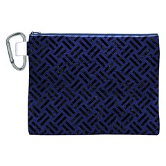 WOV2 BK-MRBL BL-LTHR (R) Canvas Cosmetic Bag (XXL)