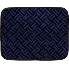WOV2 BK-MRBL BL-LTHR Fleece Blanket (Mini)