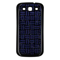 WOV1 BK-MRBL BL-LTHR Samsung Galaxy S3 Back Case (Black)