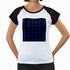 TRI2 BK-MRBL BL-LTHR Women s Cap Sleeve T
