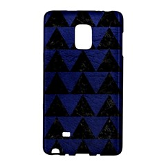 Triangle2 Black Marble & Blue Leather Samsung Galaxy Note Edge Hardshell Case