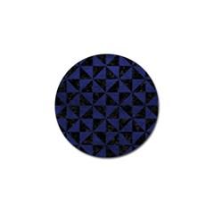TRI1 BK-MRBL BL-LTHR Golf Ball Marker (4 pack)