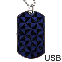 TRI1 BK-MRBL BL-LTHR Dog Tag USB Flash (One Side)