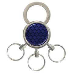 TIL1 BK-MRBL BL-LTHR (R) 3-Ring Key Chains