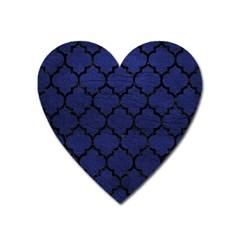 TIL1 BK-MRBL BL-LTHR (R) Heart Magnet