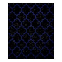 TIL1 BK-MRBL BL-LTHR Shower Curtain 60  x 72  (Medium)