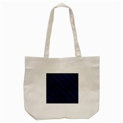 Stripes3 Black Marble & Blue Leather (r) Tote Bag (cream)