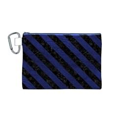 STR3 BK-MRBL BL-LTHR (R) Canvas Cosmetic Bag (M)
