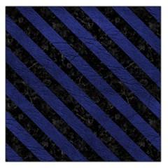 STR3 BK-MRBL BL-LTHR (R) Large Satin Scarf (Square)