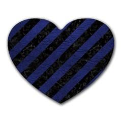 STR3 BK-MRBL BL-LTHR Heart Mousepads