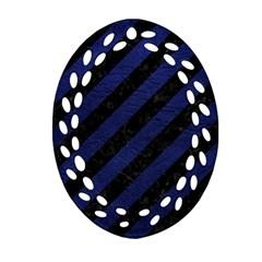 STR3 BK-MRBL BL-LTHR Ornament (Oval Filigree)