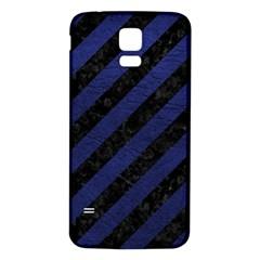STR3 BK-MRBL BL-LTHR Samsung Galaxy S5 Back Case (White)