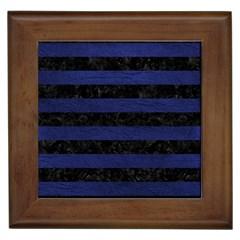 STR2 BK-MRBL BL-LTHR Framed Tiles