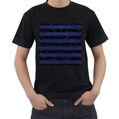 STR2 BK-MRBL BL-LTHR Men s T-Shirt (Black)