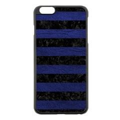 STR2 BK-MRBL BL-LTHR Apple iPhone 6 Plus/6S Plus Black Enamel Case