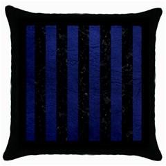 STR1 BK-MRBL BL-LTHR Throw Pillow Case (Black)