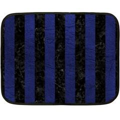 STR1 BK-MRBL BL-LTHR Double Sided Fleece Blanket (Mini)